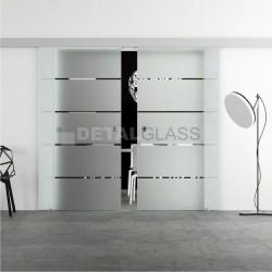 Drzwi SMART wzór piaskowany W8 w 24H