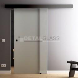 Drzwi szklane przesuwne SMART CZARNY trawione w 24H